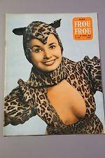 Magazine PARIS FROU*FROU 1955 - Cv. Carole LOGAN et Zina RACHEWSKI en 4ème Cv. S