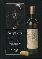 Publicité Advertising 1984  MEDOC Chateau LONGUEVILLE Pauillac Vin Rouge