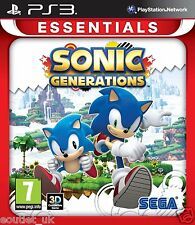 Sonic Generations Game For Sony Playstation 3 PS3 Essentials Version NEW SEALED
