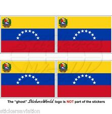 VENEZUELA State Flag (8 star, Hugo Chavez) Venezuelan 50mm Stickers, Decals x4