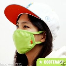CooterBoy Neon Green 100% Cotton Face Mask Adult Anti-dust Surgical K-pop Mask
