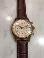 1950's Fidelius Rose Gold Plate Chronograph Watch!