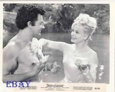 Cornel Wilde barechested, Jean Wallace VINTAGE Photo Sword of Lancelot