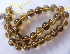 "16"" Strand Cognac Citrine Gemstone Smooth Round Beads 14mm"