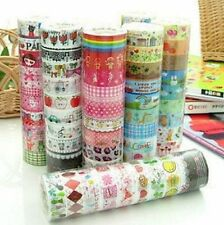 Hot 1.5cm*3 Meter Paper Sticky Adhesive Sticker Decorative Washi Tape Bulk 10pcs