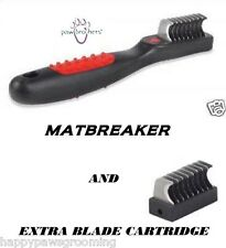 PET Dog Hair Coat Mat Knot Breaker MATBREAKER Razor Tool&EXTRA BLADE CARTRIDGE