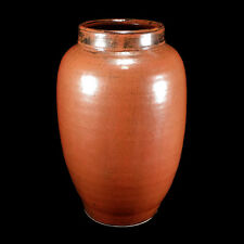 LARGE VINTAGE SASHA MAKOVKIN CALIFORNIA STUDIO ART POTTERY OIL JAR VASE 10 3/8""