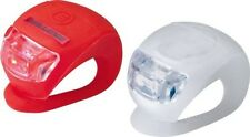2  x LED SILICONE  BIKE BICYCLE FRONT & REAR LIGHTS SET