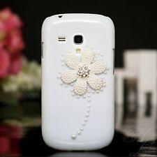 Samsung Galaxy S3 mini i8190 Hard Case Handy Schutz Hülle Etui Strass Steine 3D