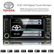 "6.2"" HD Touch Screen Bluetooth SatNav Car DVD Player USB Aux Stereo For Toyota"