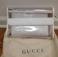 100% Authentic Gucci Two-Piece White Clutch Bag W Dust Bag