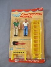Fisher Price Adventure People Set 352 Construction Workers 1976 NEW SEALED MOC