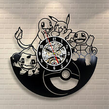Pikachu Pokemon_Exclusive wall clock made of vinyl record_GIFT