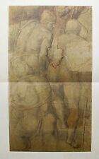 "MICHELANGELO 1970 Lithograph ""CARDBOARD FOR THE CRUCIFIXION OF ST. PETER"""
