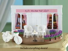 Mini Collectible Paris Chocolate Cafe Furniture 6 pc Storefront, chairs NIB