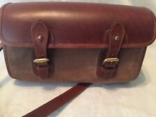EUC POLO RALPH LAUREN Vintage Brown Suede & Leather Crossbody Messenger Bag