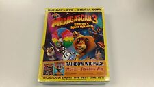 Madagascar 3 Europe's Most Wanted 3D Blu-ray DVD Rainbow Wig Pack, PG, Animation