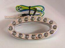 Universal 16 LED Ring Taillight Brake Light E-Marked Chromed Plastic