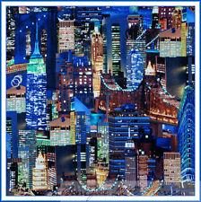 BonEful Fabric FQ Cotton Quilt America US New York City Bridge Building 911 Hero