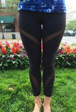 Rare Lululemon High Times Wrap Mesh Pant -Black- SOLD OUT Sz 2