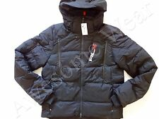 New Ralph Lauren RLX Nylon Black Hooded Winter Puffer Down Jacket sz XL