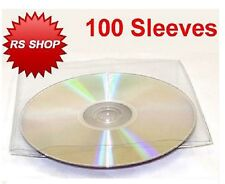 100 cd dvd disc plastique manches wallet cas 150 microns