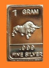 New 1 gm. Whason Mint .999 silver bar - Bull + Add-Ons available !