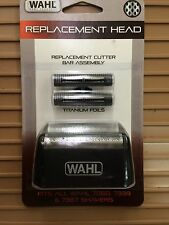 NEW WAHL  SHAVER FOIL Black Color Silver Foil