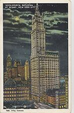 B79862  woolworth building at night  new york city USA   front/back image
