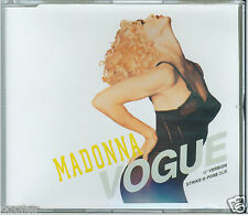 "MADONNA VOGUE (12"" VERSION) VOGUE (STRIKE-A-POSE DUB) 1990 SIRE CD SINGLE WE 739"