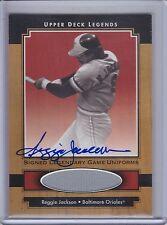 REGGIE JACKSON 2001 Upper Deck Legends Legendary Game Jersey Autograph  (B6736)