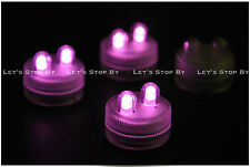 10 PINK SUPER Bright Dual LED Tea Light Submersible Floralyte Party Wedding