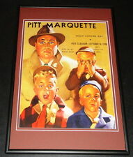 1948 Pitt Panthers vs Marquette Football Framed 10x14 Poster Official Repro