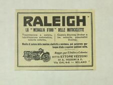 Pubblicità 1927 RALEIGH MOTORCYCLE MOTO MILANO old advertising publicitè reklame