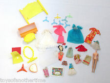 Lot Vintage 1970s Topper Dawn Clothes Shoes doll Outfits furniture fixerup TLC