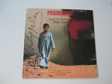 POWAQQATSI-PHILIP GLASS-SIGNED AUTOGRAPHED-OST SOUNDTRACK LP-WHITE LABEL PROMO