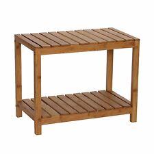 Bamboo Stool Bench Seat Steam Spa Sauna Bathroom Portable Garden Outdoor Chair