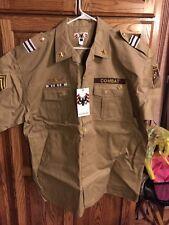 Regal Military Combat Short Sleeve Button-up Shirt Beige 3XL Retails $89 New