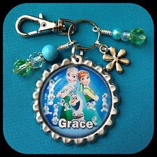 Personalized FROZEN ELSA OLAF Name Bottle Cap Necklace Jewelry Zipper Pull FEVER