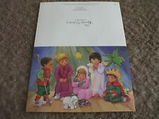 """6 spanish christmas cards   folded size 7-1/4""""x5"""" """"Christmas Pagent"""""""
