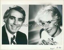 1980 Rona Barrett and Co-Host Tom Snyder Original News Service Photo