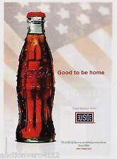 COCA COLA 2010 magazine ad print coke soda pop clipping  -  good to be home USO