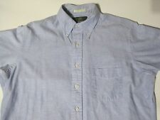 Orvis button down dress shirt blue 100% cotton size 16 35 made in USA