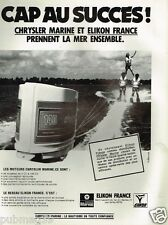Publicité advertising 1979 Les Moteurs Chrysler marine  et Elikon France