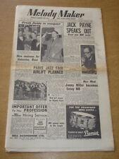 MELODY MAKER 1954 MAY 22 JACK PAYNE JIMMY MILLER PARIS JAZZ DICKIE VALENTINE +