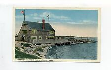 Winthrop MA Mass Cottage Park Yacht Club, person swimming, dock, early