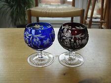 "Pair of Bohemian Flash Cut Squat Glasses - 3 1/8""(8cms)"