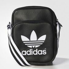 Adidas Originals School Bag Pouch Unisex Mens Adidas Mini Bag Shoulder Bag Black