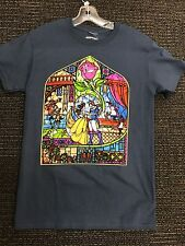Disney Beauty & The Beast Stained Glass Window T-Shirt Adult S L XL XXL