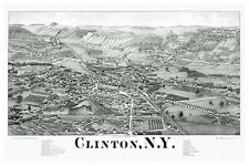 "20x30""Poster decoration.Room Interior design.Aerial map Clinton New York.7610"